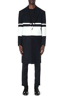 CASELY-HAYFORD Ashmore striped overcoat