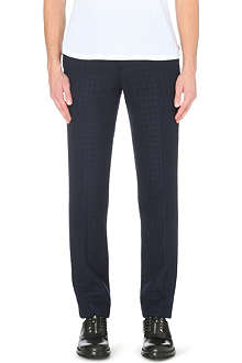 CASELY-HAYFORD Basalto wool-blend trousers