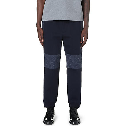 CASELY-HAYFORD Cranmore wool-blend trousers (Navy