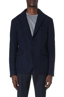 CASELY-HAYFORD Titus check wool-blend jacket