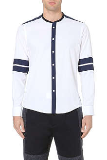 CASELY-HAYFORD Striped-sleeve cotton shirt