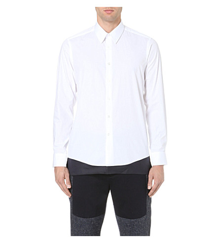 CASELY-HAYFORD Avery elongated cotton shirt (White