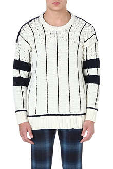 CASELY-HAYFORD American football striped jumper