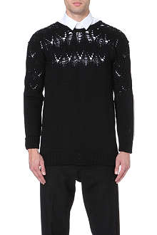 CASELY-HAYFORD Drop-stitch wool jumper