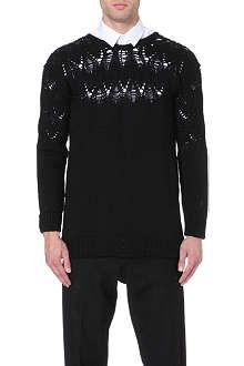 CASELY-HAYFORD Drop-stitch wool jumper