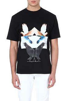 JOE CASELY-HAYFORD Crow-print cotton t-shirt