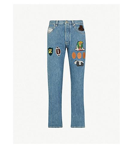 LOEWE Appliquéd regular-fit straight jeans (Blue