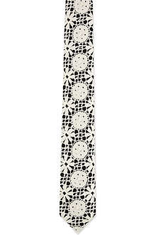 MARWOOD Geometric lace tie