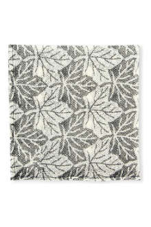 MARWOOD Viennese Leaf lace pocket square