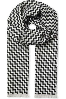 MARWOOD Staircase wool-blend scarf