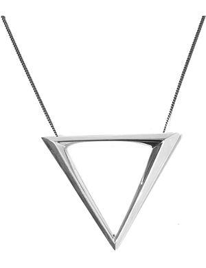HANNAH MARTIN LONDON Shamans triangle simple pendant necklace