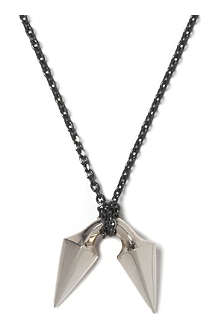 HANNAH MARTIN LONDON Barbed sterling silver pendant necklace