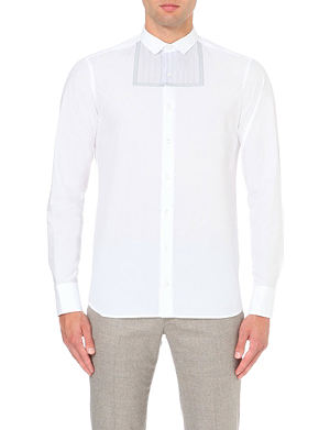 KOLOR Regular-fit pleated cotton shirt
