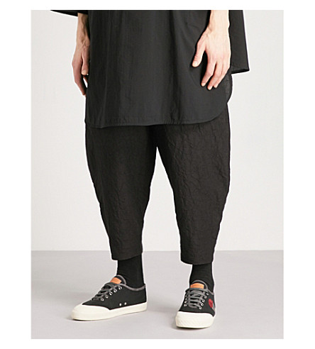 TOOGOOD Acrobat relaxed-fit cropped linen trousers (Coal
