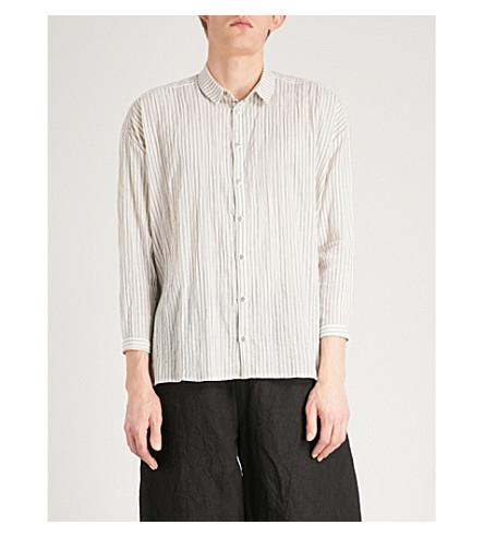 TOOGOOD Draughtsman oversized woven shirt (Coal