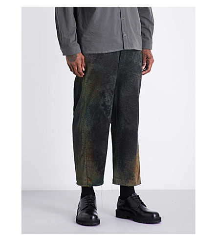 TOOGOOD Sculptor regular-fit cotton-twill trousers (Earth