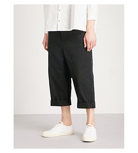 TOOGOOD Sculptor wide-leg cropped cotton trousers (Coal