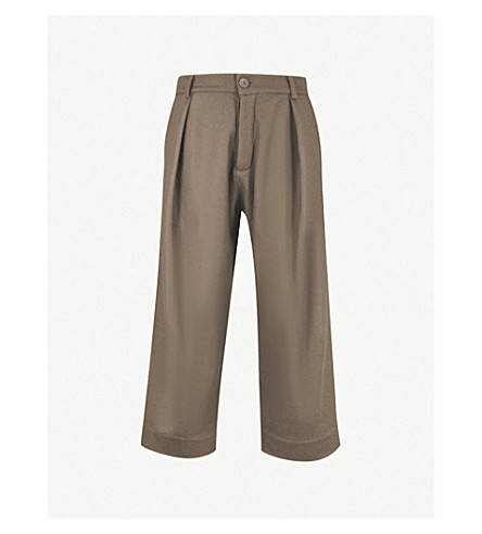 TOOGOOD Tinker cropped wide-leg felt trousers (Mud