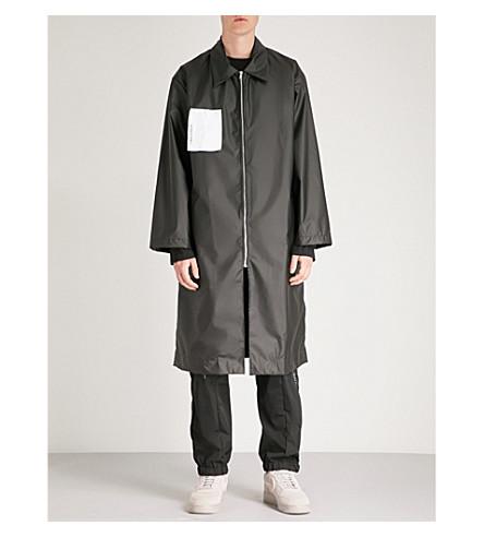 WALL A parche COLD con Abrigo mezcla logo en con algodón Negro de oversize q5a5wTxO