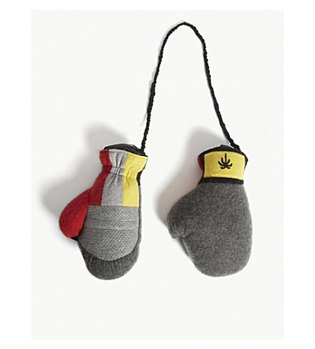 THE ELDER STATESMAN Lamyland stuffed cashmere boxing gloves (Multi