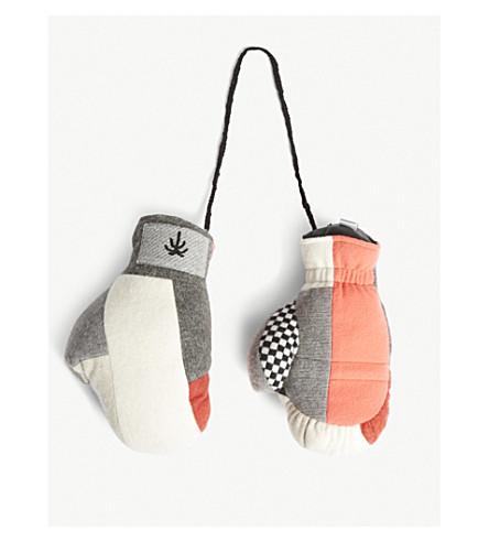 THE ELDER STATESMAN Lamyland knitted boxing gloves (Multi