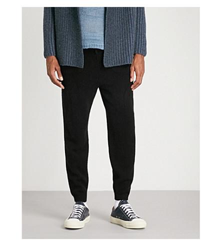 THE ELDER STATESMAN Slim-fit tapered cashmere jogging bottoms (Black