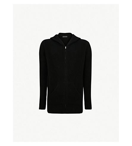 THE ELDER STATESMAN Zip-up cashmere hoody (Black