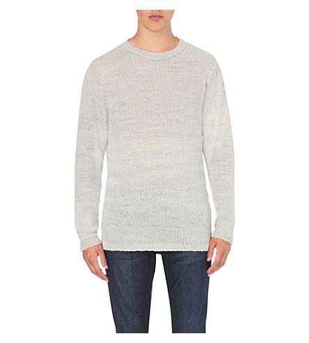 THE ELDER STATESMAN Striped cashmere jumper (Dolphin
