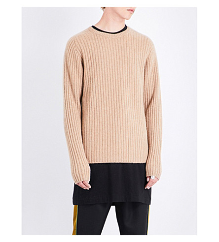 THE ELDER STATESMAN Ribbed cashmere jumper (Camel