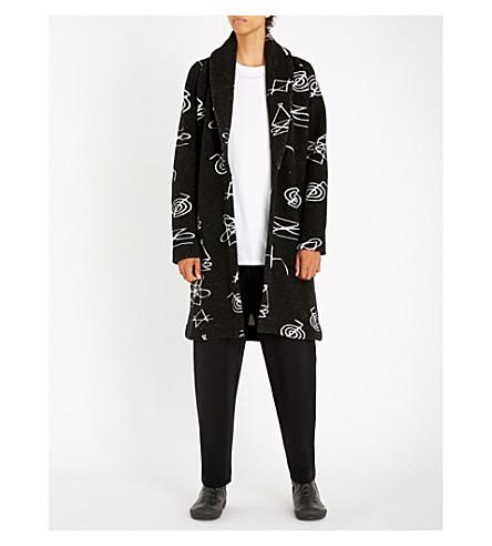 THE ELDER STATESMAN Reiki-symbol cashmere coat