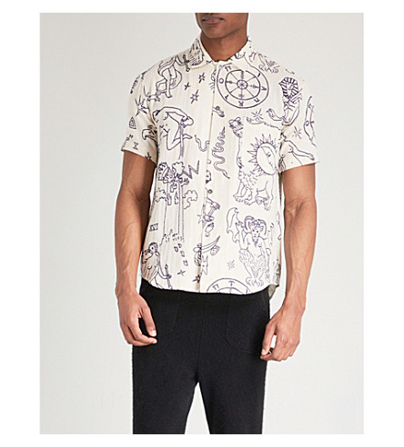 THE ELDER STATESMAN Graphic-print regular-fit cotton shirt (White