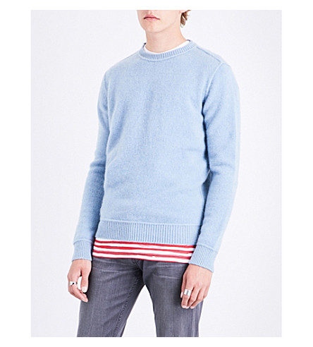 THE ELDER STATESMAN Crewneck cashmere jumper (Baby+blue