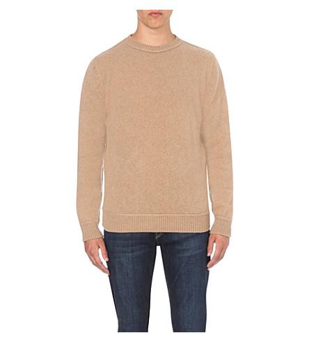 THE ELDER STATESMAN Crewneck cashmere jumper (Camel