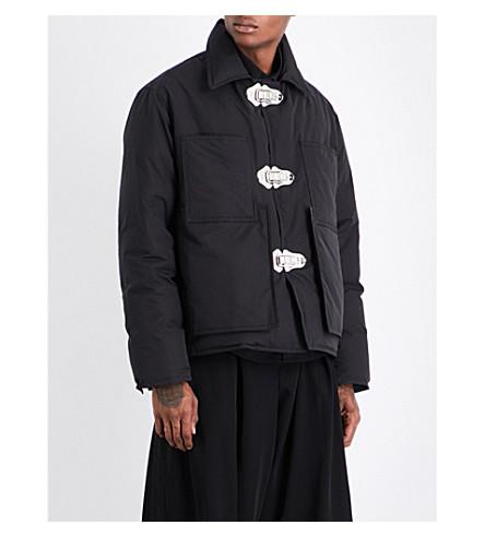 CRAIG GREEN Clasp-detail cotton-blend jacket (Black