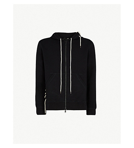 CRAIG GREEN Laced jersey hoody (Black