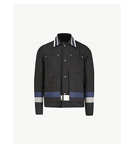 CRAIG GREEN Panelled quilted shell jacket (Black