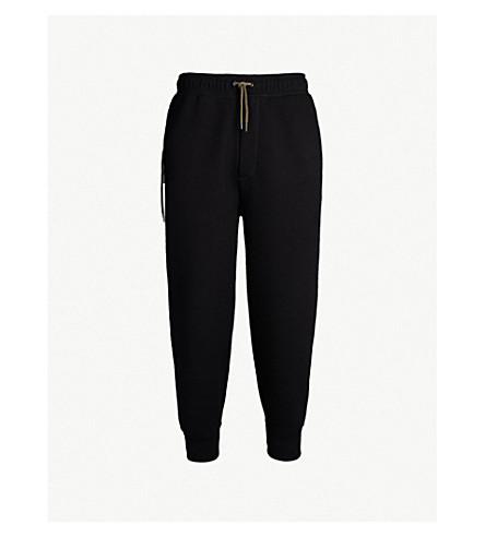 CRAIG GREEN Lace-up bonded-jersey track pants (Black/khaki