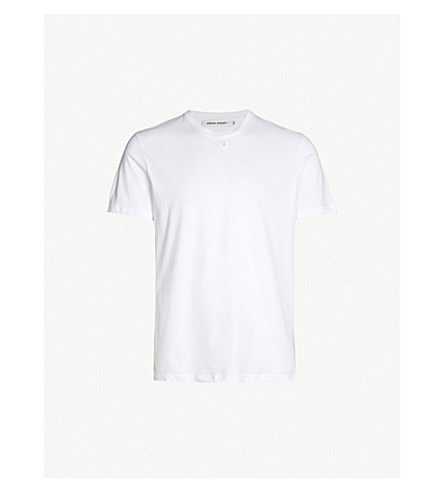 CRAIG GREEN Logo-embroidered cotton-jersey T-shirt (White