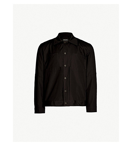 CRAIG GREEN Regular-fit cotton-poplin worker shirt (Black