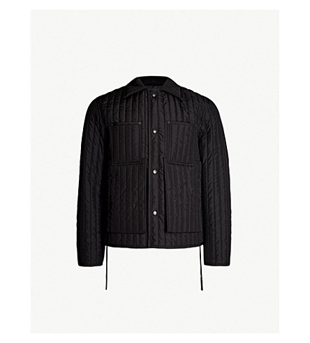 CRAIG GREEN Worked quilted shell jacket (Black