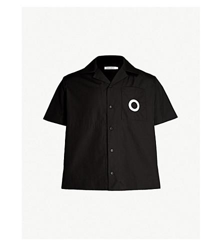 CRAIG GREEN Regular-fit cotton-poplin shirt (Black