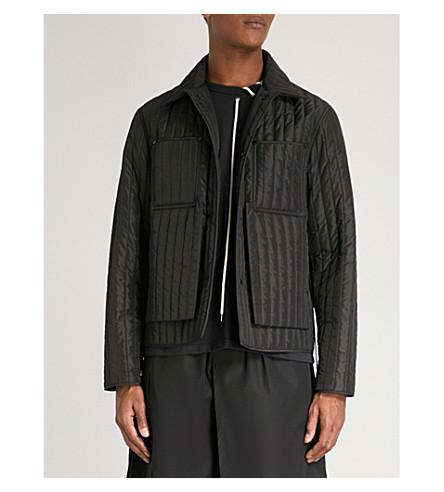 CRAIG GREEN 绗缝外软壳面料夹克 (黑色