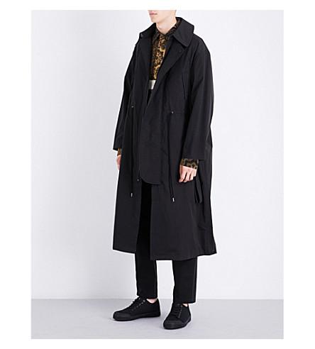 CRAIG GREEN Oversized cotton-blend shell jacket (Black
