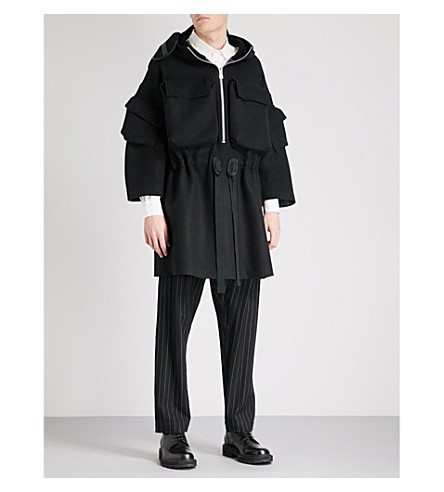 THE SOLOIST Facemask-detail wool jacket (Black