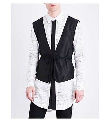 THE SOLOIST Tangled Up silk vest (Black