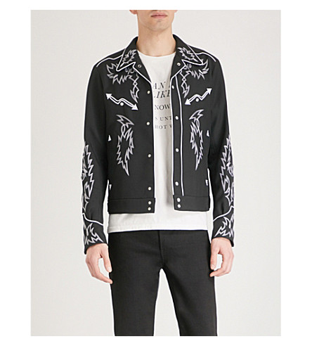 bordada de Flechas sarga Negro THE SOLOIST chaqueta XzRwPq67x