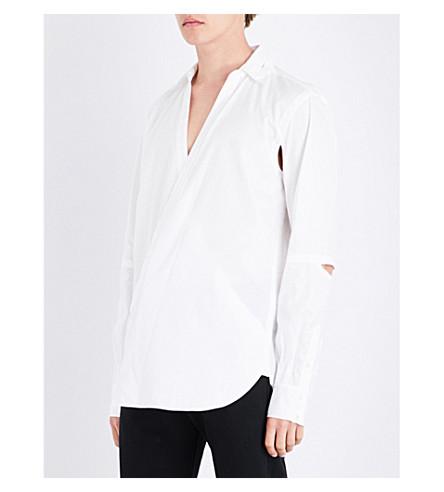 THE SOLOIST Cutout-detail regular-fit cotton shirt (White
