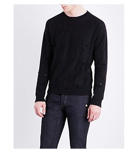 THE SOLOIST Grunge Freedom cotton-jersey sweatshirt (Black