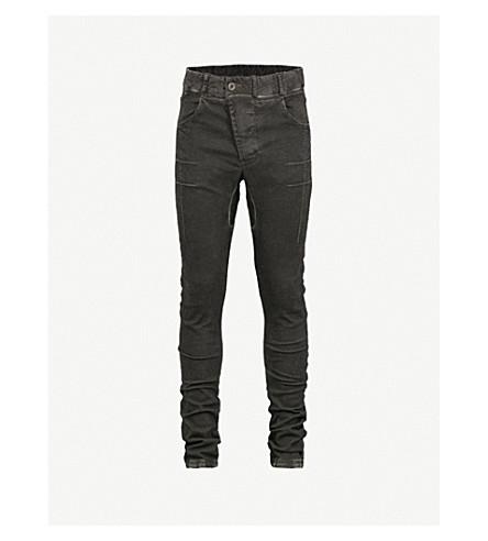 BORIS BIDJAN SABERI Faded slim-fit skinny jeans (Black