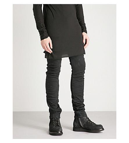 BORIS BIDJAN SABERI Asymmetric distressed slim-fit skinny jeans (Black